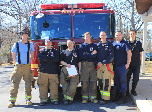 Members of the Chillum-Adelphi Volunteer Fire Department. (Photo by Barry Jawer)